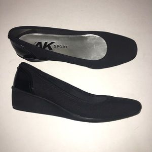 Anne Klein Sport Black Wedge Closed Toe